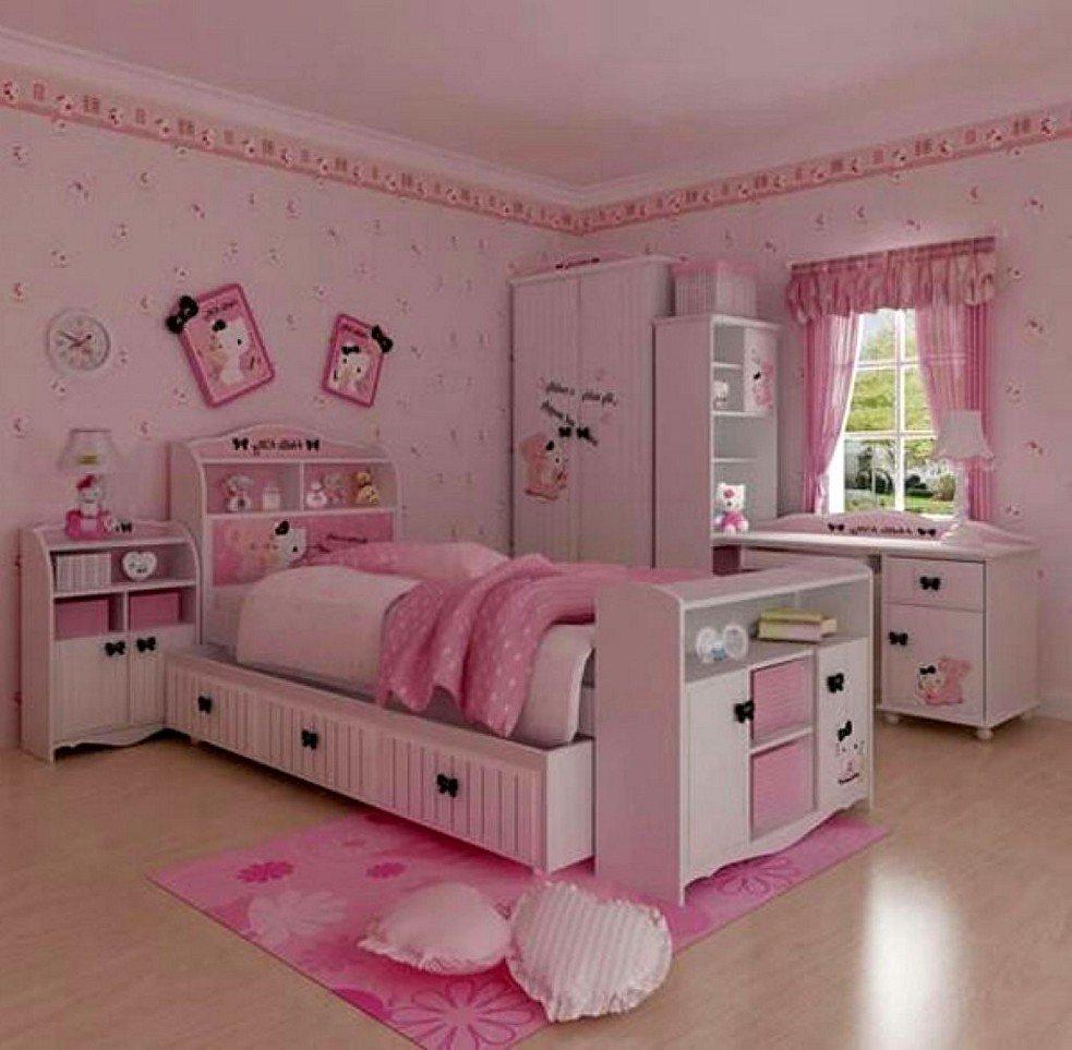 Tips Mendesain Kamar Tidur Anak Perempuan Hello Kitty Ternyata Mudah Waterbasecoating Com